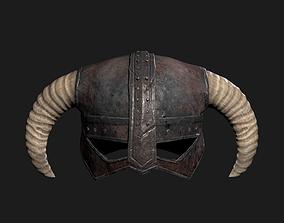 3D model Skyrim Helmet PBR game asset 4K maps