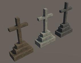 3D asset VR / AR ready Grave 6 - PBR