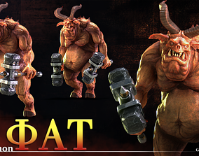 Demon Fat 3D asset animated
