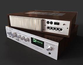 Soviet amplifier Radiotehnika U-101 3D