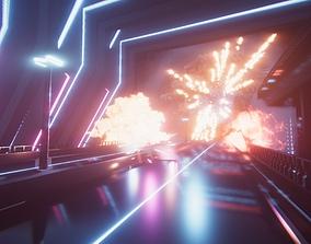 Sci-fi explosions 3D