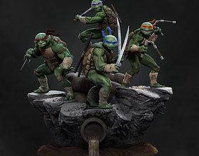 3D printable model Teenage mutant ninja turtles diorama