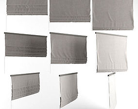 3D model Roman blinds grey