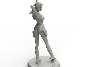 human Lara Croft 3D asset
