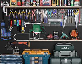 garage tools set 3 3D asset