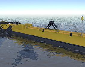 game-ready Orbital O2 2MW tidal turbine 3d model