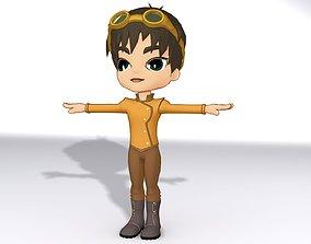 3D asset rigged Cartoon Boy