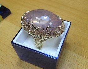 version 3D print model Golden female ring