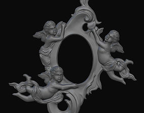 frame with angels 3D printable model valentine