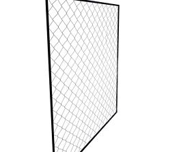net Fence 3D model realtime