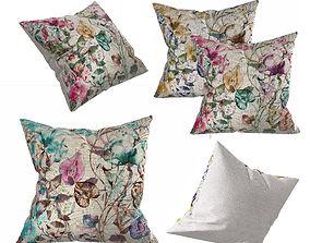 Floral Pillow SET 3D model