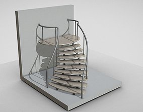 Spiral Staircase High-Poly Version 2 3D model
