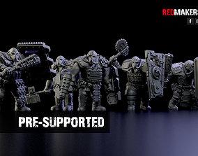 3D print model Squad of Abhuman Giants in heavy armor - 1