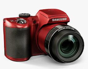 3D asset Samsung WB100 Red bridge digital camera