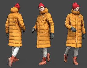 3D model Stylized Man in yellow jacket