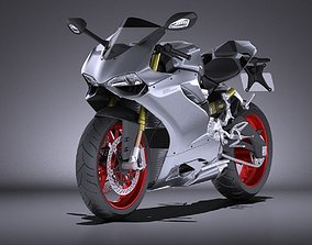 Ducati 899 Panigale 2015 VRAY 3D
