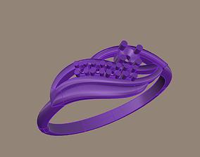 3D print model flowing ring
