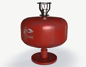 ceiling fire extinguisher 3D model