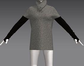 3D model Woman sweater