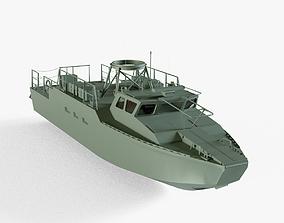 3D asset Combat Boat