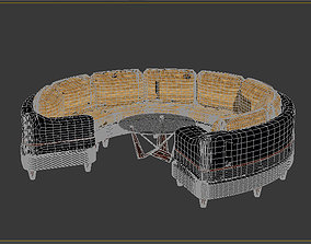 3D model circular sofa