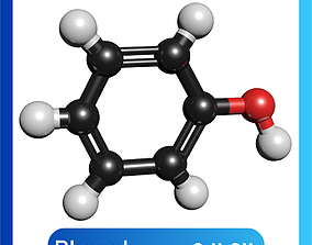 Phenol 3D Model C6H5OH