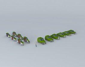 vehicle 3D Fictional Eastern Europe car evolution