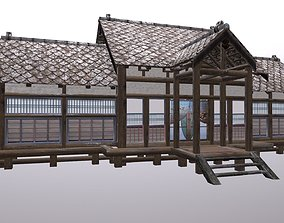 3D model game-ready Traditional Japan Okiya House