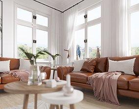 Scandinavian living Room Scene for 3ds Max and Corona