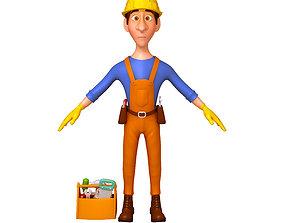 Worker Cartoon 3D model