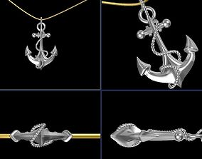 Anchor Pendant 3D printable model