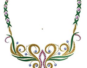 Necklace 3D asset low-poly bag