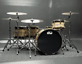 Drumkit - DW drums 3D model