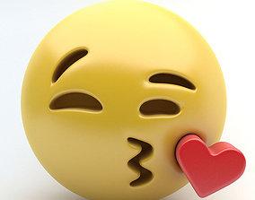 Emoji Kissing 3D model