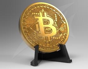 3D printable model Bitcoin Desktop Sign Size