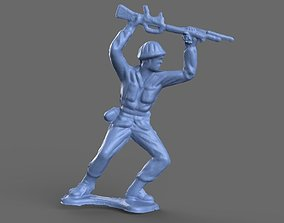 Green Army Man Bayonette 3D model