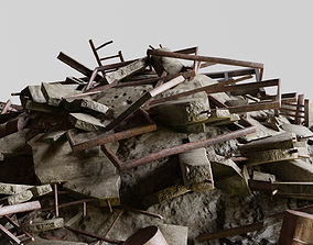 Ruin Debris Kit 3D model realtime