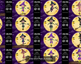 Little witch Pack 3D model