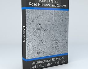 3D Paris Road Network and Streets