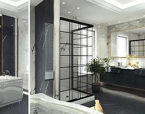 3D asset bathroom interior scene 011
