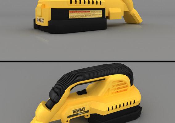 DEWALT 20V Max Cordless Vacuum Render