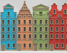 3D model Modular european tenement house
