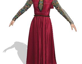3D model woman dress