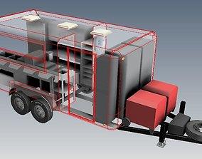 3D model 14 ft x 8 ft food trailer donuts trailer