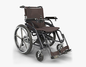 Hybrid power and manual wheelchair 3D
