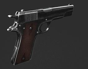 pistol Colt 1911 3D model low-poly