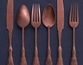 Antique Cutlery Set 3D