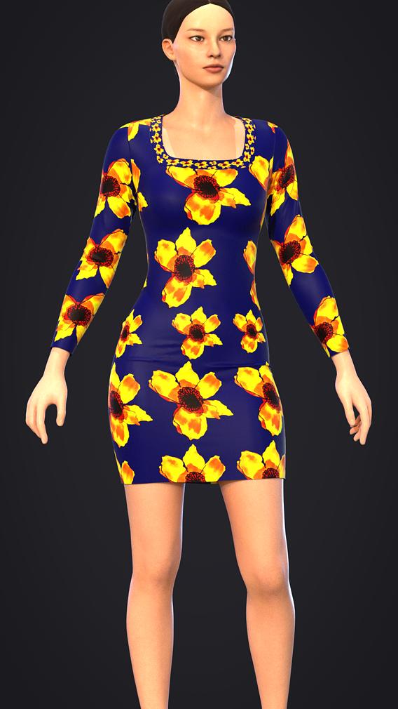 SUN FLOWER DRESS