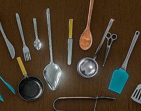 3D model Kitchen Cutlery Pack 1