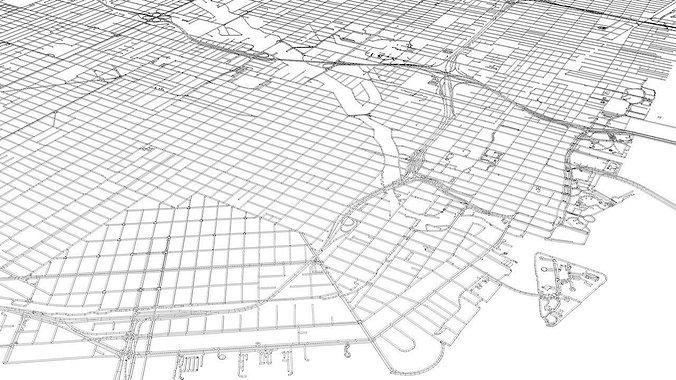 miami-road-network-and-streets-3d-model-